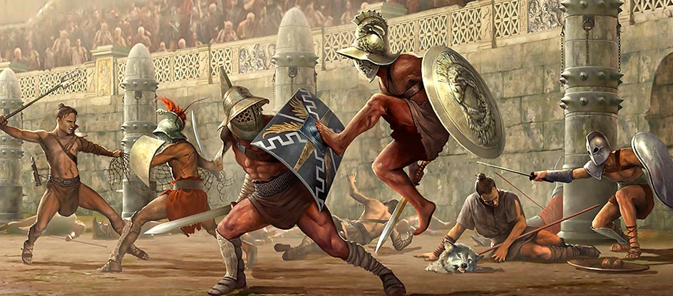 a description of the gladiatorial contest in ancient rome Slaves, called gladiators, were trained in the skills of fighting at first all the gladiators  it was not only trained gladiators who were killed in the roman games.